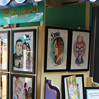 Caricatures at New Orleans Square